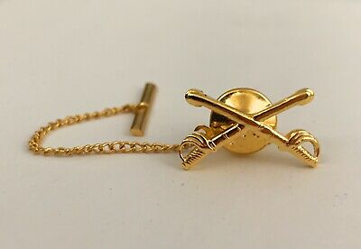 $6.77 • Buy 🌟US Army Cavalry Crossed Sabers Tie Tack & Chain, Armed Forces Military Pin