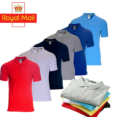 £7.29 • Buy Polo Shirt  For Men Pure Cotton Short Sleeve Premium Causal Tops Sale On-Kc