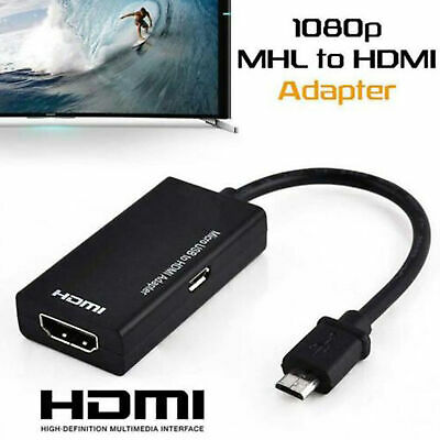 $ CDN5.23 • Buy Universal MHL Micro USB To HDMI Cable 1080P HD TV Adapter For Android Phones AUS