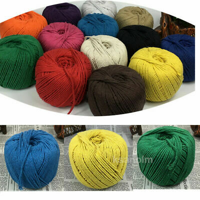 AU38.59 • Buy 3mm/4mm Macrame Rope Colorful Cotton Twisted Cord Artisan String DIY Hand Craft