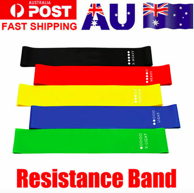 AU12.49 • Buy Resistance Bands Power Heavy Strength Exercise Fitness Gym Crossfit Yoga AU