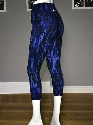$ CDN62.40 • Buy Lululemon Wunder Under Crop 6 Painted Animal Sprinkler Black High Rise Euc