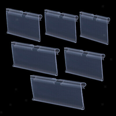 50PCS Clear Plastic Shelf Retail Price Tag Label Display Holder Durable • 10.36£
