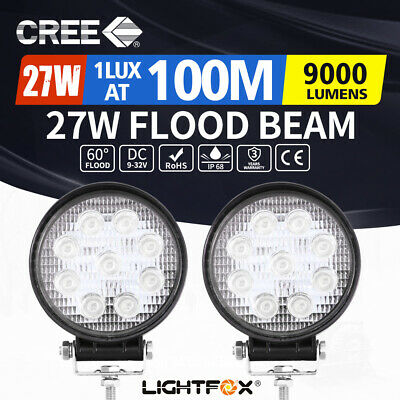 AU22.95 • Buy 2x 4inch Cree LED Work Lights Spot Flood Combo Round Fog Lamp Reverse Offroad