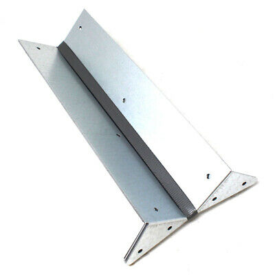 8, 300mm ARRIS RAIL BRACKETS GALVANISED FENCE POST SUPPORT FENCING BRACKET GALV • 9.99£