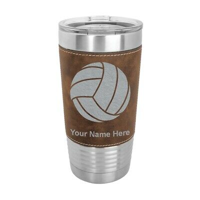 $30.99 • Buy 20oz Leather Tumbler, Volleyball Ball, Volley, Beach, Olympic, Sand, Sport