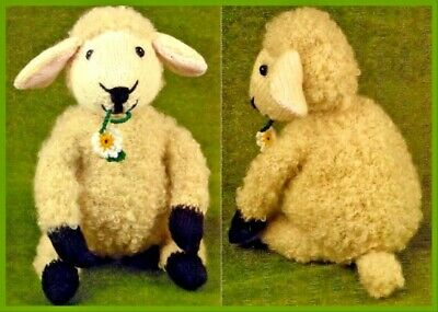 £2.20 • Buy KNITTING PATTERN Lamb Sheep Soft Cuddly Toy Doorstop Oddments Baby Gift DK 563