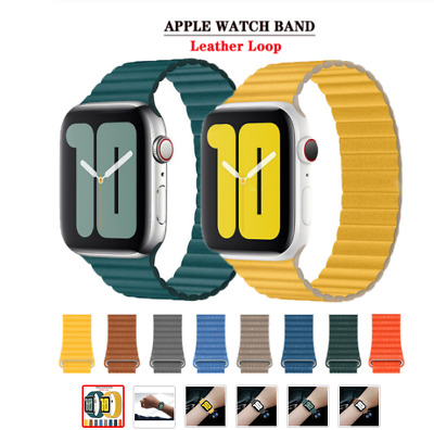 AU18.99 • Buy For Apple Watch Series 5 4 3 2 1 Band 44mm 40mm Leather Loop Band Magnetic Strap