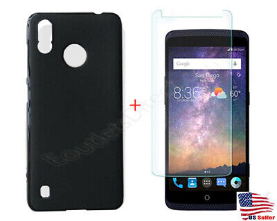 $11.99 • Buy Soft TPU Case Cover + 9H Tempered Glass For ZTE Blade A3 Prime Z5157V Phone Read