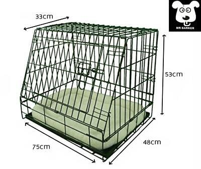£41.95 • Buy 30  Sloping Front Car Cage For Dogs Puppy Training Crate 30  With Or Without Bed