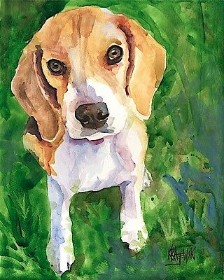 Beagle Gifts | Art Print From Painting | Home Decor Poster, Picture 11x14 • 21.58£