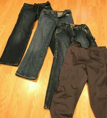 $25.99 • Buy Lot Of 4 Boys Pants: Old Navy Painter's Jeans Size 16 & Tek Gear Athletic Size S