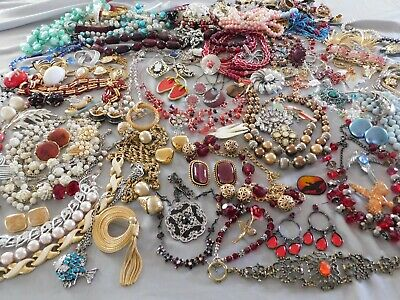 $ CDN117.43 • Buy Huge 10 Pound Lot Of Vintage Costume Jewelry Rhinestone Crystal Store Clean Out