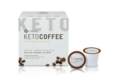 $41 • Buy It Works! Keto Coffee? Pods Salted Caramel Flavor NEW IN BOX