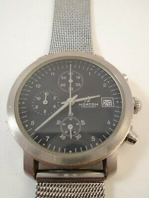 $ CDN49.99 • Buy Vintage Mens NORTON CHRONOGRAPH WATCH W Date Analog TITANIUM CASE Works!