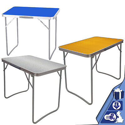 £24.99 • Buy Mdf Portable  Indoor Outdoor Wooden Folding Dining Table Camping Picnic Party