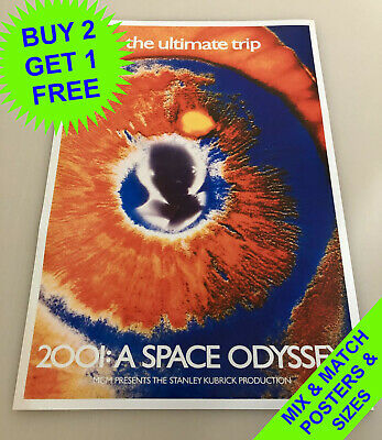 £9.95 • Buy 2001: A Space Odyssey (1968) • The Ultimate Trip • A4 - A1 Size • Poster Print