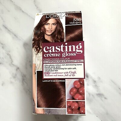 L'Oreal Casting Creme Gloss In 550 'Mahogany' Red-Brown Semi Permanent Hair Dye • 4.70£