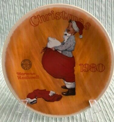 $ CDN6.65 • Buy  Scotty Plays Santa  Norman Rockwell Christmas Collector Plate COA Knowles 1980