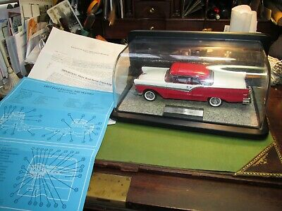 $85 • Buy Franklin Mint 1957 Ford Fairlane 500 Skyliner Retractable 1:24 Diecast Car,CASE+