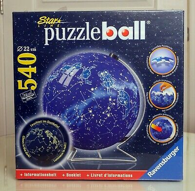 $38.99 • Buy Ravensburger Star Line World Globe Earth Puzzleball Puzzle Ball Glow In The Dark