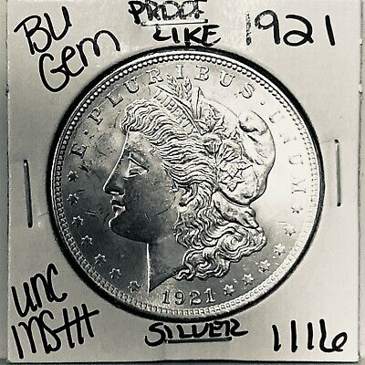 $24.50 • Buy 1921 Bu Gem Morgan Silver Dollar Unc Ms++ Genuine U.s. Mint Rare Coin 1116
