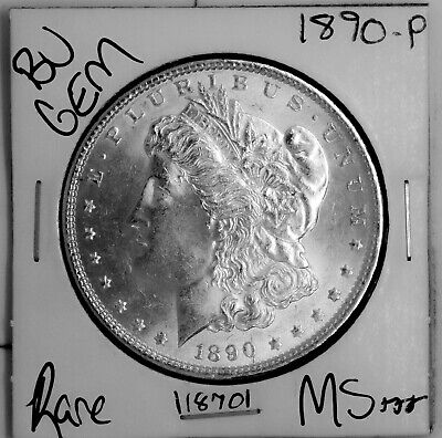 $35 • Buy 1890 GEM Morgan Silver Dollar #118701 BU MS+++ UNC Coin Free Shipping
