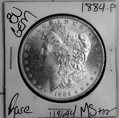 $33 • Buy 1884 GEM Morgan Silver Dollar #118694 BU MS+++ UNC Coin Free Shipping