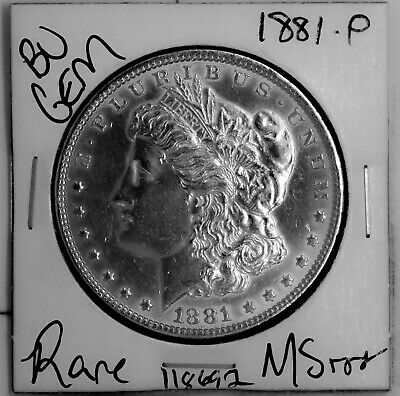 $19.78 • Buy 1881 GEM Morgan Silver Dollar #118692 BU MS+++ UNC Coin Free Shipping
