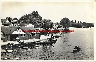 Berkshire The Reading Lido 1958 Real Photo Vintage Postcard 31.1 • 2£