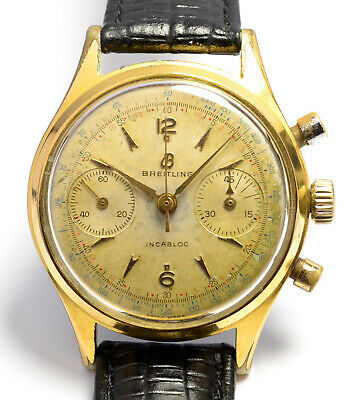 $ CDN704.37 • Buy Montre Ancienne Chronographe Breitling 1191 Venus 188 Vintage Swiss Chronograph