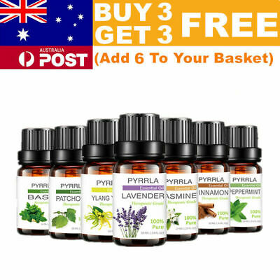 AU10.99 • Buy Essential Oils 100% Pure Natural Aromatherapy Essential Oil 10ml Fragrance Aroma