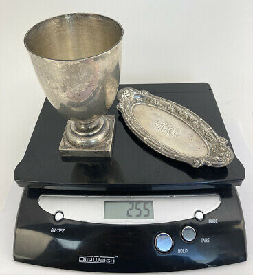 $ CDN184.38 • Buy Vintage Lot 925 STERLING SILVER Scrap Or Not 255 Grams=8 Ozs/STIEFF Goblet ,dish