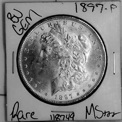 $21.50 • Buy 1897 GEM Morgan Silver Dollar #118749 BU MS+++ UNC Coin Free Shipping
