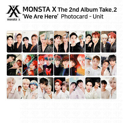 $ CDN9.69 • Buy MONSTA X 2nd Album Take 2 We Are Here Official Photocard Unit Version KPOP K-POP