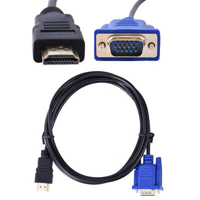 HDMI Male To VGA Male D-SUB Converter Adapter Cable Lead For PC Laptop HDTV • 5.47£