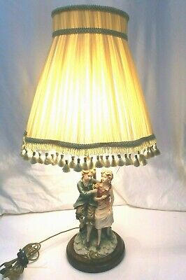 $ CDN221.15 • Buy Vtg French Victorian Style Lady & Gentleman Porcelain Figurine Table Lamp