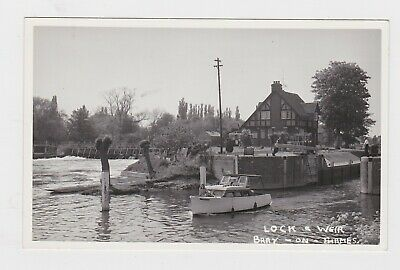 Nice Old Real Photo Card Lock And Weir Bray On Thames Maidenhead Windsor  • 0.99£