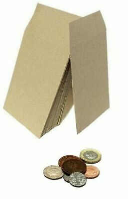 £2.79 • Buy SMALL PLAIN BROWN ENVELOPES DINNER MONEY WAGES GIFT COINS POCKET SEED 100 X 62mm