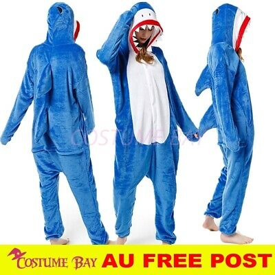 AU32.95 • Buy Animal Blue Shark Jumpsuit Onesie Adult Kigurumi Cosplay Unisex Pajamas Costume