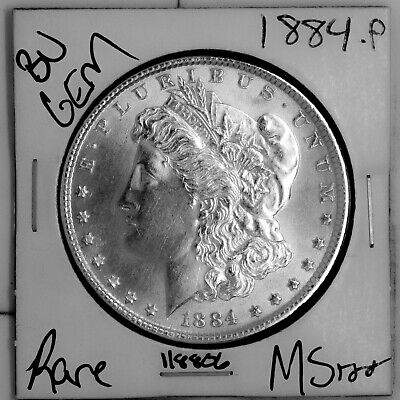 $27 • Buy 1884 GEM Morgan Silver Dollar #118806 BU MS+++ UNC Coin Free Shipping