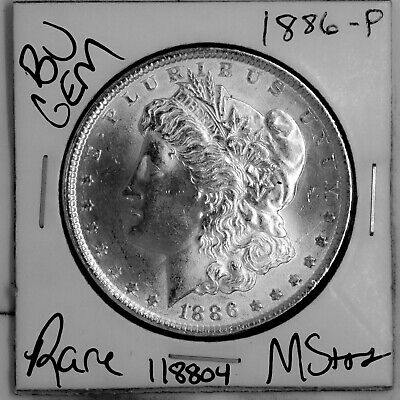 $17.72 • Buy 1886 GEM Morgan Silver Dollar #118804 BU MS+++ UNC Coin Free Shipping