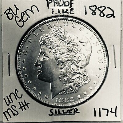 $28 • Buy 1882 Bu Gem Morgan Silver Dollar Unc /ms+++ U.s. Mint Rare Coin 1174