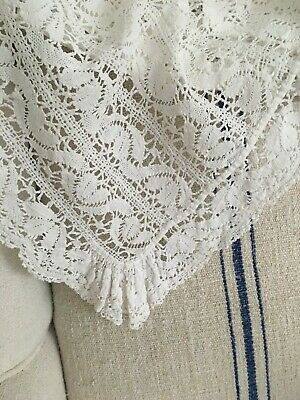 Vintage French Lace Tablecloth • 45£