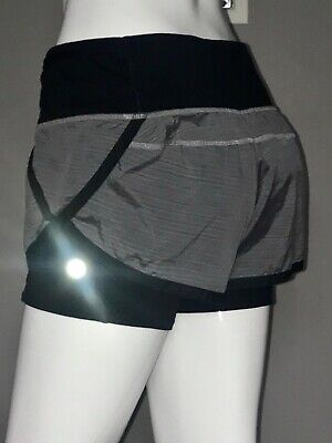 $ CDN68 • Buy Lululemon Speed Squad Short 6 Twisted Stripe Fossil Black Attached Long
