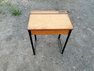 Vintage Wooden School Desk • 45£