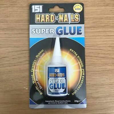 Super Glue Hard As Nails Superglue Adhesive 20g - Extra Strong For Everyday Use • 2.39£