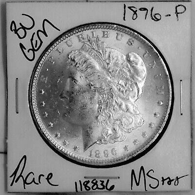 $17.50 • Buy 1896 GEM Morgan Silver Dollar #118836 BU MS+++ UNC Coin Free Shipping