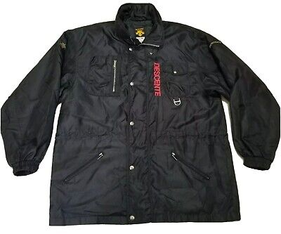 $79.99 • Buy Vintage 90s Descente Ski Jacket Black With Bold Red Spell Out Mens XXL