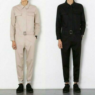 $46.99 • Buy Mens Fashion One-Piece Dress Long Sleeve Zip Up Jumpsuit Overall Workwear Pants
